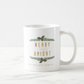 Festive, Pine and Berries コーヒーマグカップ