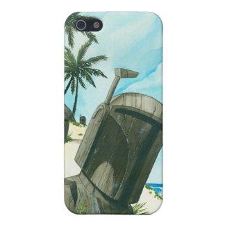 """Fett Moaiの島"" iPhone 5 ケース"