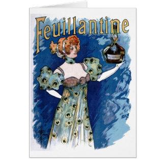 Feuillantineのアルコール飲料広告 カード