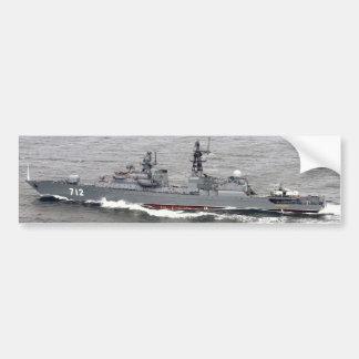 FF 712のフリゲート艦Neustrashimy バンパーステッカー