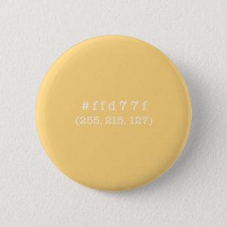 #ffd77fの円ボタン(白い文字) 缶バッジ