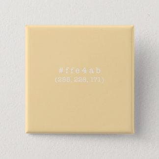 #ffe4abの正方形ボタン(白い) 缶バッジ