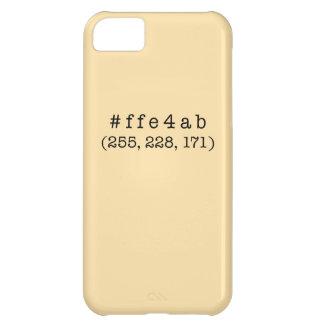 #ffe4abのiPhone 5c、やっとそこに iPhone5Cケース