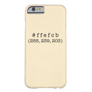 #ffefcbのiPhone 6/6s、やっとそこに iPhone 6 ベアリーゼアケース