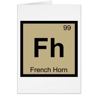Fh -フレンチ・ホルン音楽化学周期表 カード