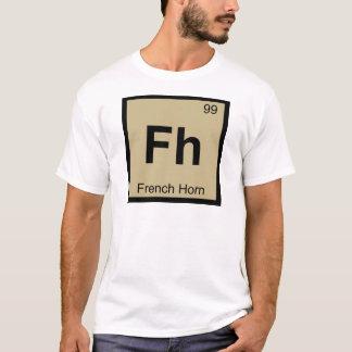 Fh -フレンチ・ホルン音楽化学周期表 tシャツ