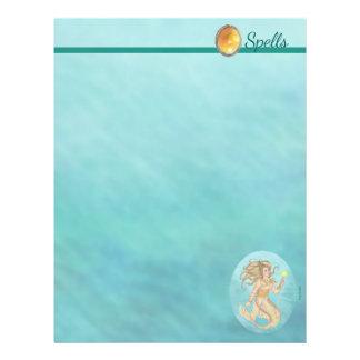 Fiaの人魚の海の女王のファンタジーの綴りのページ チラシ