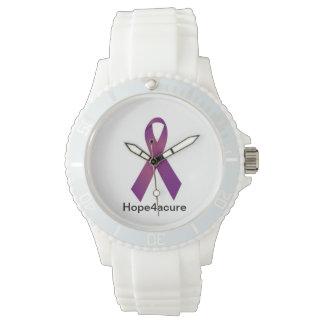Fibro紫色のリボンの腕時計の嚢胞性線維症のループス 腕時計