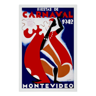 Fiestas de Carnavalの~モンテビデオ ポスター