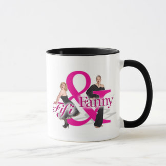 Fifi及びファニーのロゴのマグ-黒いハイライトの… マグカップ