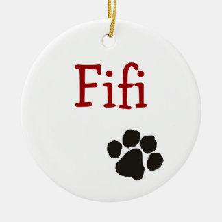 Fifi -犬のペンダント セラミックオーナメント