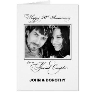 Fiftieth Wedding Anniversary Custom Name & Photo カード