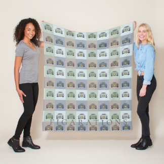 Figarations Nissan Figaro Car Fleece Blanket フリースブランケット