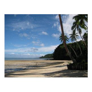 Fijianのビーチの郵便はがき ポストカード