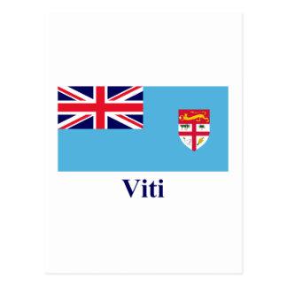 Fijianの名前のフィージーの旗 ポストカード