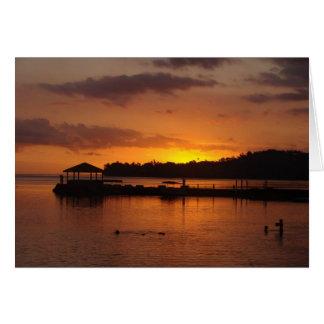 Fijianの日没 カード