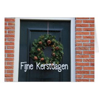 Fijneのkerstdagen -オランダのクリスマス カード