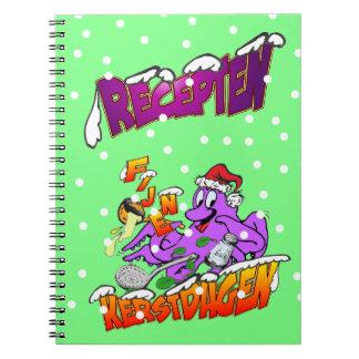 Fijne Kerstdagen Octopus Kok Recepten Notitieboek ノートブック