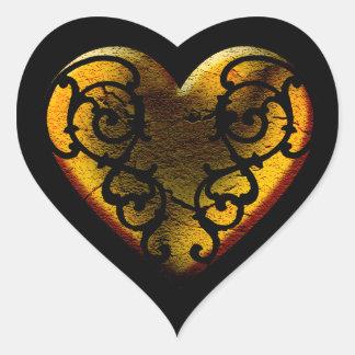 Filigree Goth Gold Heart ハートシール