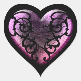 Filigree Goth Pink Heart ハートシール