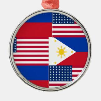 FILIPINO-AMERICAN メタルオーナメント