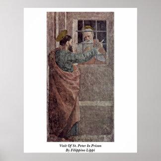 Filippino Lippi著刑務所のセントピーターの訪問 ポスター