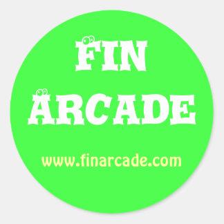 FinArcadeのステッカー ラウンドシール
