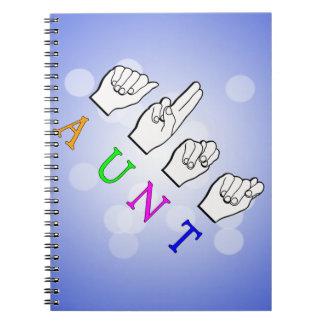 FINGERSPELLED ASL NAME SIGN叔母さん ノートブック