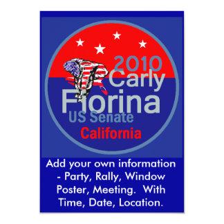 FiorinaのInvitation 2010年の上院議員 カード