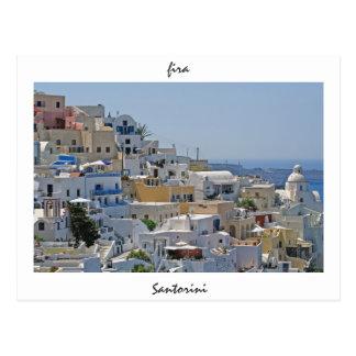 Fira、Santorini、ギリシャ ポストカード