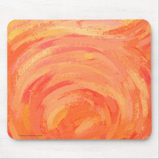 fire湖のオレンジ渦巻 マウスパッド