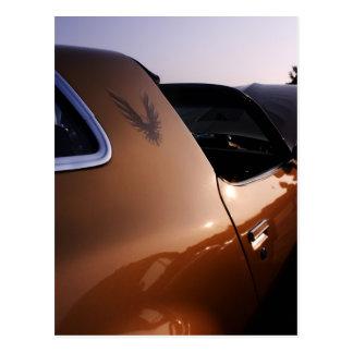Firebirdの金ゴールド ポストカード