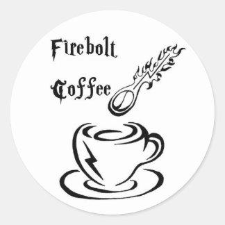 Fireboltのコーヒーステッカー ラウンドシール