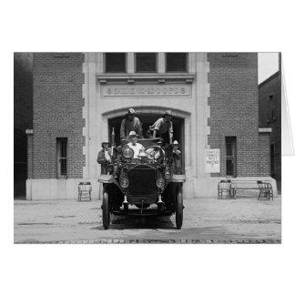 Firehouse 1925年の消防車の乗組員 カード