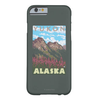 Fireweed及び山-ユーコン準州、アラスカ Barely There iPhone 6 ケース