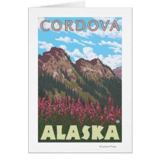 Fireweed及び山- Cordova、アラスカ カード