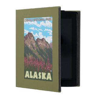 Fireweed及び山- Denaliの国立公園、 iPad ケース