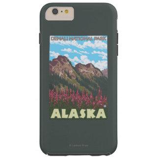 Fireweed及び山- Denaliの国立公園、 Tough iPhone 6 Plus ケース
