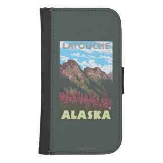 Fireweed及び山- Latouche、アラスカ ウォレットケース