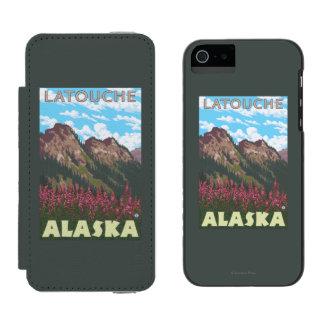 Fireweed及び山- Latouche、アラスカ Incipio Watson™ iPhone 5 ウォレット ケース