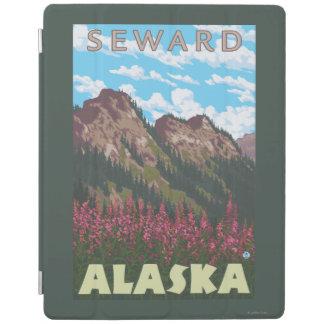 Fireweed及び山- Seward、アラスカ iPadスマートカバー