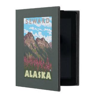 Fireweed及び山- Seward、アラスカ iPad ケース