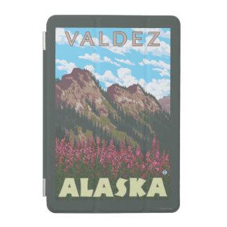 Fireweed及び山- Valdez、アラスカ iPad Miniカバー
