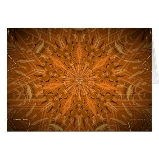 Fireyのオレンジの万華鏡のように千変万化するパターン カード