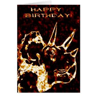 Fireyのトリケラトプスの誕生日 カード