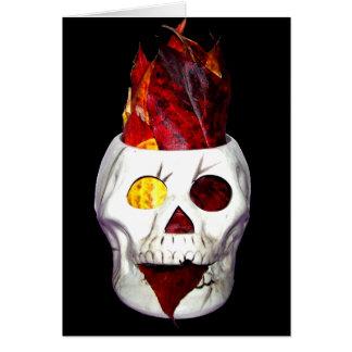 Fireyの秋の葉のスカル カード