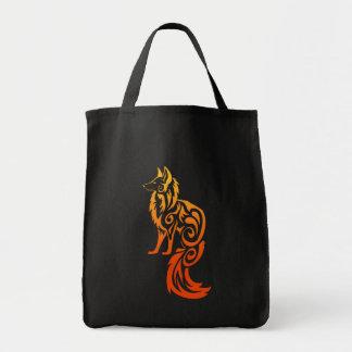 Fireyの赤い種族のキツネKitsune トートバッグ