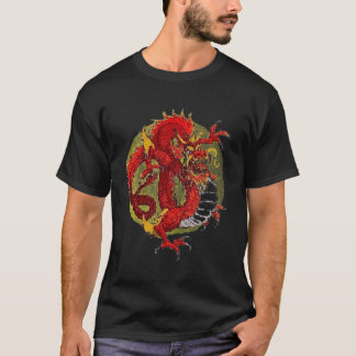 Fireyの赤のドラゴン Tシャツ