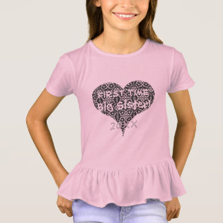 First Time Sister & Lace Heart Tシャツ