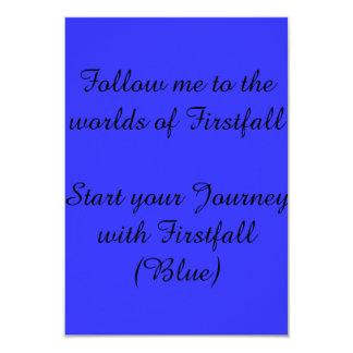 firstfall (宣伝用資料)への招待状 カード